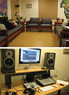 The YARN 'family room' and music studio where aspiring musicians can practice their craft.