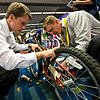 Sun Life Financial employees raised money for The Home by holding a bicycle-building competition.